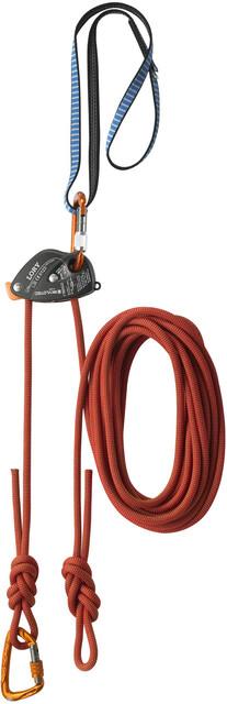 Skylotec Klettergurt Mammut : Skylotec via ferrata top belay set black blue orange campz